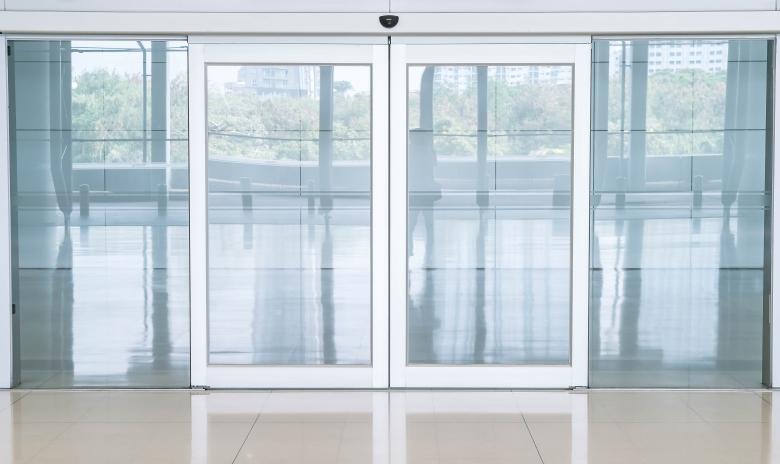 empty closed door