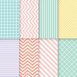 different styles of bright colored wallpapers